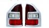 Фонарь левый (красный, рамка хром) паджеро/монтеро-iii 00-07 mb4040615l