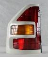 Фонарь левый (красный/рамка белая/желтый поворот) паджеро/монтеро-iii 00-07