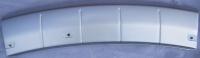 Накладка переднего бампера нижняя серебро аутлендер 03-07 mb4363700f