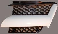 Решетка радиатора левая сетка белая аутлендер 03-04 mb4783700l