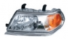 Фара левая рамка хром светлая внутри с корректором паджеро спорт 05-08 mb4004600al