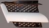 Решетка радиатора правая сетка белая аутлендер 03-04 mb4783700r